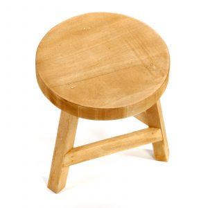 Wood Shabby Chic Stool 1