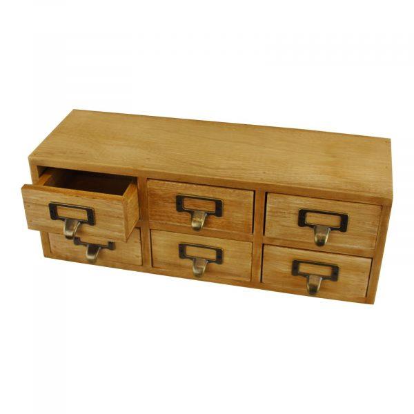 6 Drawer Double Level Storage Unit 1