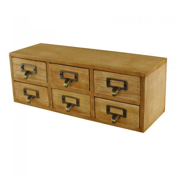 6 Drawer Double Level Storage Unit 2