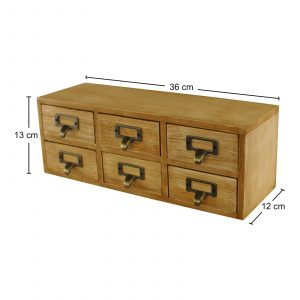 6 Drawer Double Level Storage Unit 3