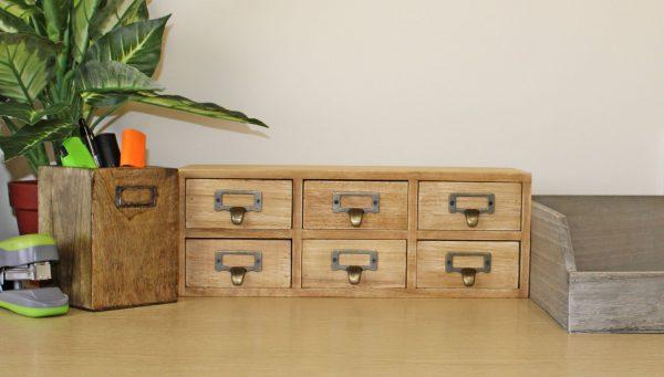 6 Drawer Double Level Storage Unit 4
