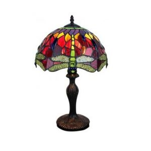 Red Dragonfly Design Tiffany Lamp 1