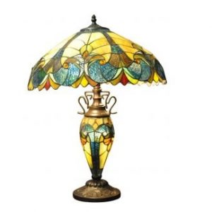 Blue and Yellow Double Tiffany Lamp 1