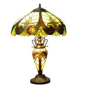 Multicoloured Double Tiffany Lamp 1