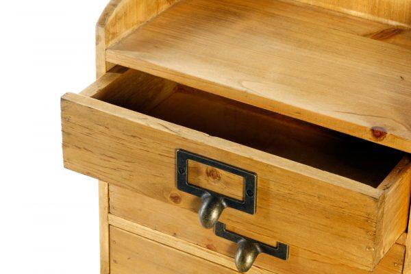 3 Drawers Rustic Wood Storage Organizer 2