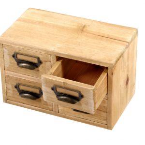 Four Wooden Storage Drawer Set 1