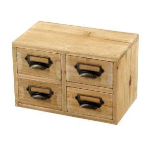 Four Wooden Storage Drawer Set