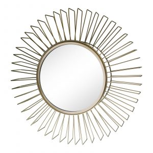 Gold Wire 3D Accent Mirror 1