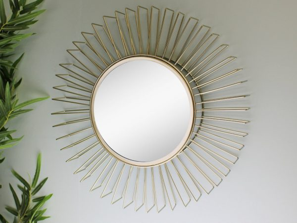 Gold Wire 3D Accent Mirror 2