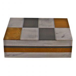 Large Resin Rectangular Design Trinket Box