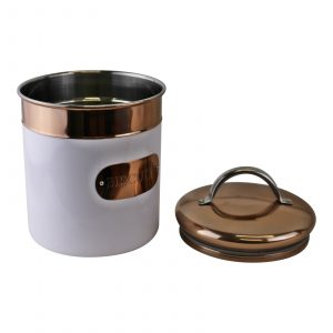 Copper and White Biscuit Tin 1