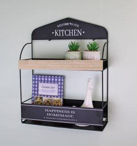 Decorative Wall Hanging Kitchen Shelving Unit 2