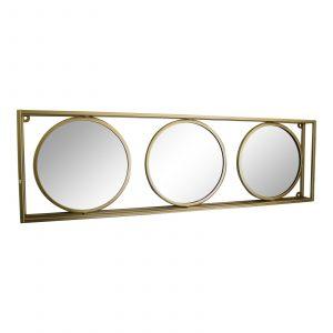 Gold Framed Triple Mirror 2