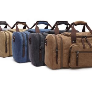 Men's Canvas Duffle Bag Holdall Travel Bag