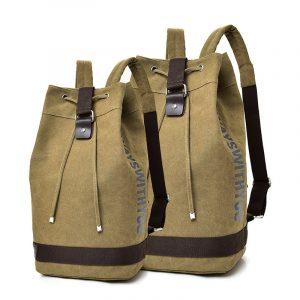 Unisex Jacquard Canvas Rucksack Backpack