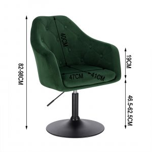 Faux Leather Swivel Height Adjustable Lounge Chairs 18