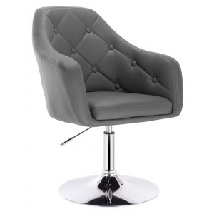 Faux Leather Swivel Height Adjustable Lounge Chairs 1