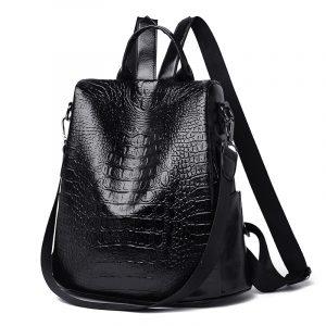 Tan or Black PU Leather Women's Anti-theft Backpacks