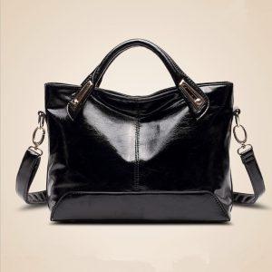 Designer Leather Tote Messenger Handbag 24