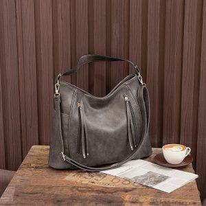 Ladies Vintage Faux Leather Hobo Bag