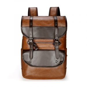 Mens PU Leather Laptop Backpack 30