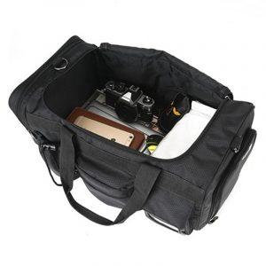 Mens Large Capacity Black Weekend Duffle Bag