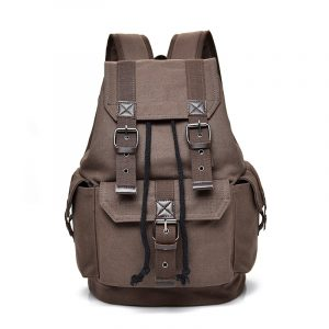 Mens Trendy Canvas Buckle Backpack 10