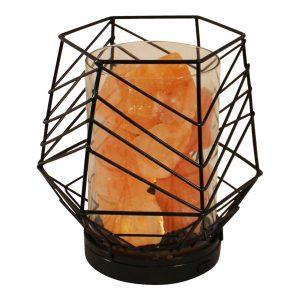 Black Wire Himalayan LED Salt Lantern