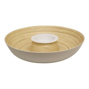 Natural Interiors Bamboo Chip and Dip Dish
