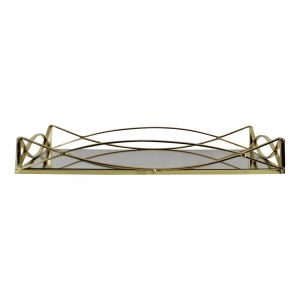 Gold Metal Mirrored Display Tray