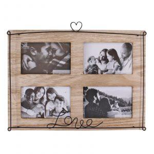 Love Design 4 Photo Multi Photo Frame